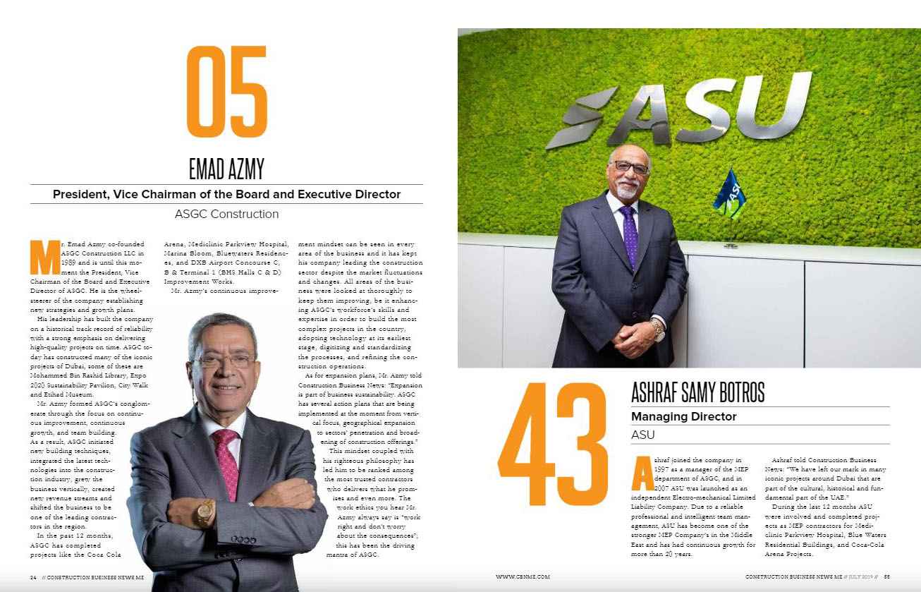 Leading MEP Contractors Dubai | Middle East's Top 60 Power hour 2019